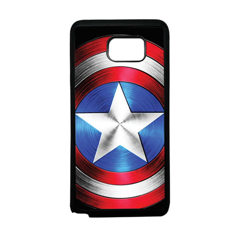 HEAVENCASE Superhero Captain America 02 Softcase TPU Bumper Casing for Samsung Galaxy Note 5 - Hitam