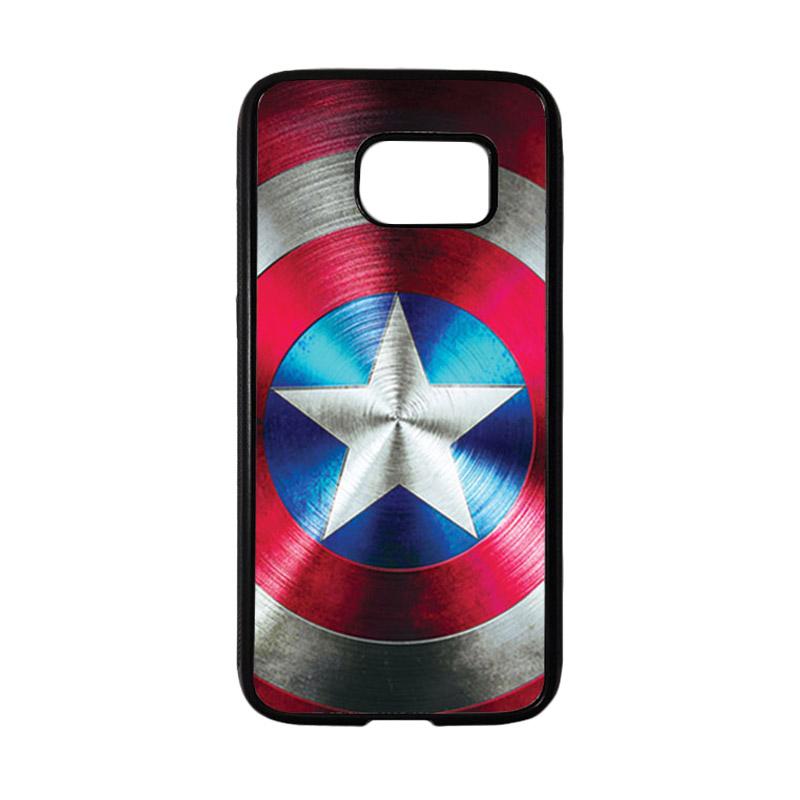 HEAVENCASE Superhero Captain America 03 Casing for Samsung Galaxy S7 - Hitam