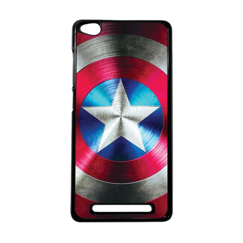Heavencase Superhero Captain America 03 Hardcase Casing for Xiaomi Redmi 3 - Hitam