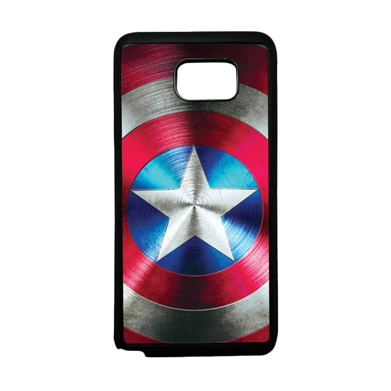 HEAVENCASE Superhero Captain America 03 Softcase TPU Bumper Casing for Samsung Galaxy Note 5 - Hitam