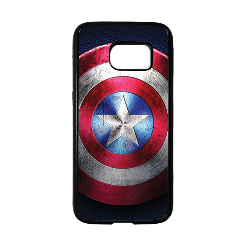 HEAVENCASE Superhero Captain America 04 Casing for Samsung Galaxy S7 - Hitam
