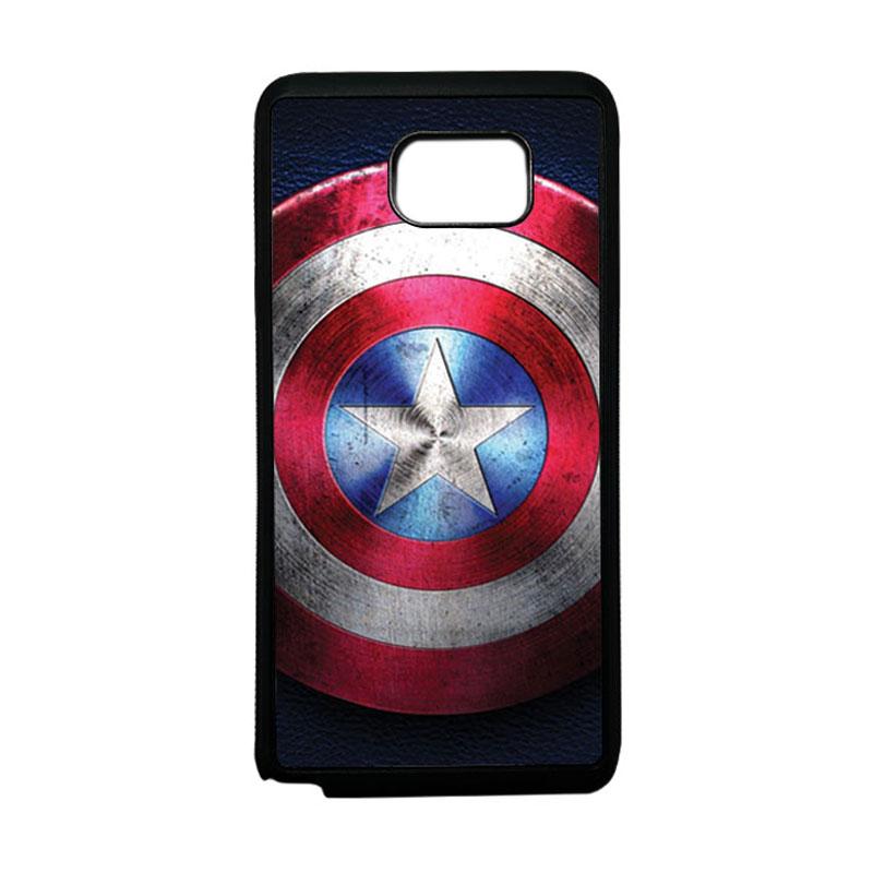 HEAVENCASE Superhero Captain America 04 Softcase TPU Bumper Casing for Samsung Galaxy Note 5 - Hitam