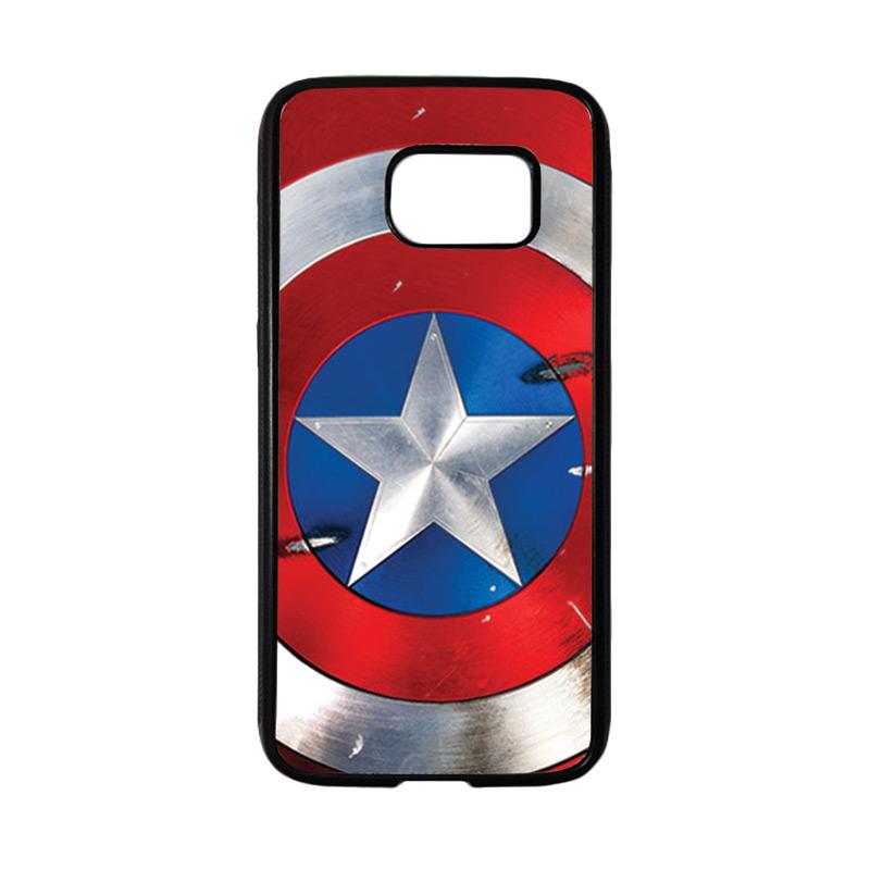 HEAVENCASE Superhero Captain America 05 Casing for Samsung Galaxy S7 - Hitam