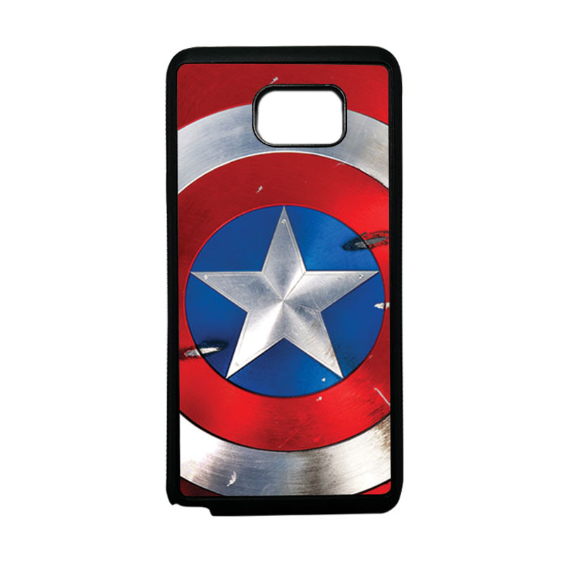 HEAVENCASE Superhero Captain America 05 Softcase TPU Bumper Casing for Samsung Galaxy Note 5 - Hitam