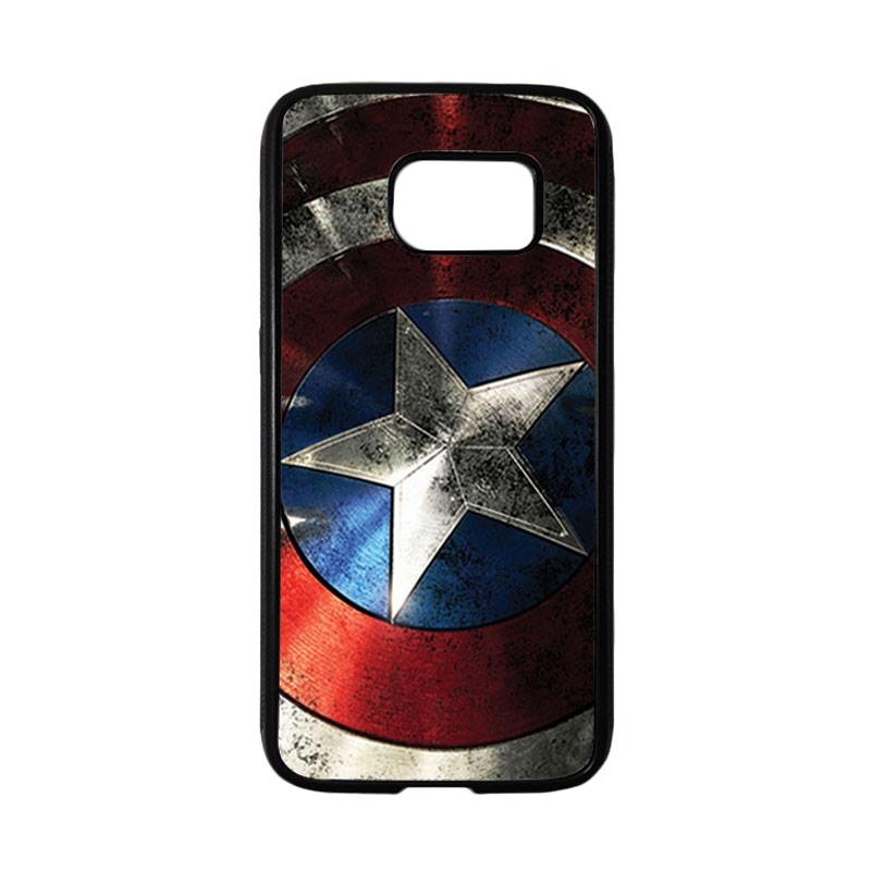 HEAVENCASE Superhero Captain America 06 Casing for Samsung Galaxy S7 - Hitam