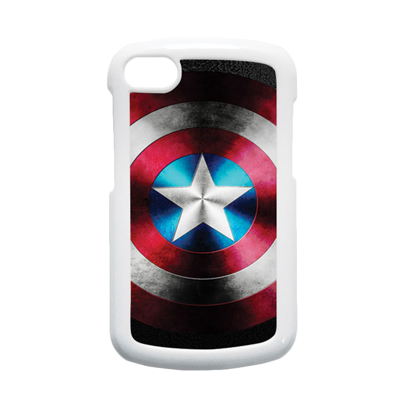 HEAVENCASE Superhero Captain America 07 Hardcase Putih Casing for Blackberry Q10