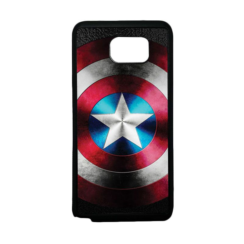 HEAVENCASE Superhero Captain America 07 Softcase TPU Bumper Casing for Samsung Galaxy Note 5 - Hitam