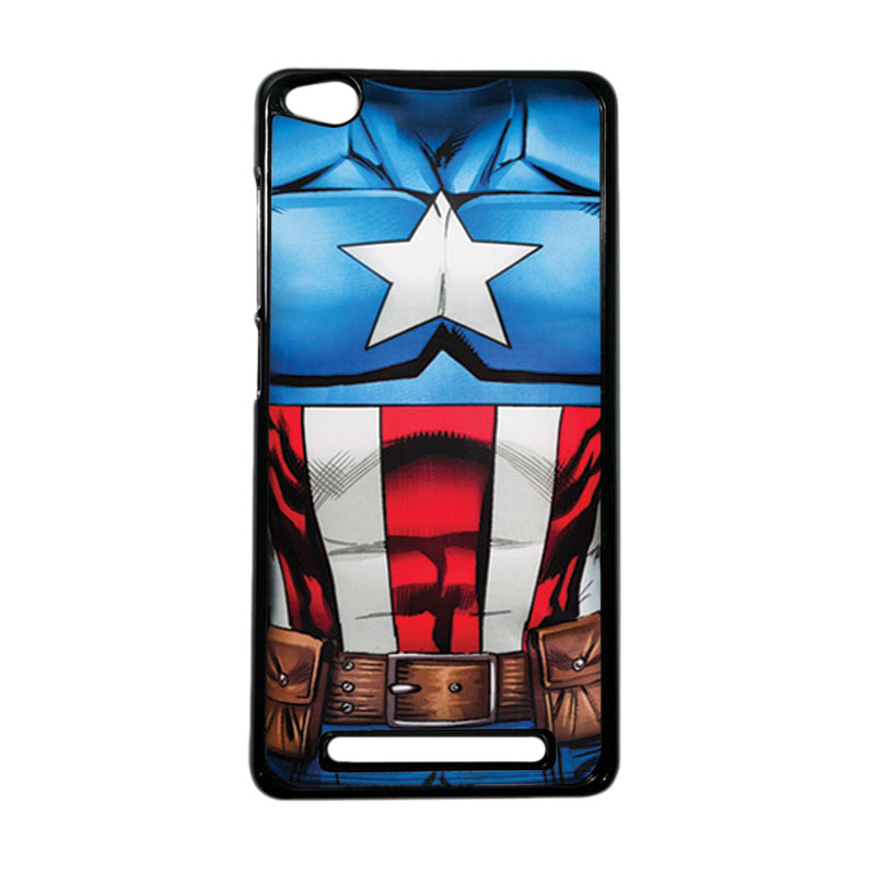 HEAVENCASE Superhero Captain America 08 Hardcase Casing for Xiaomi Redmi 3 - Hitam