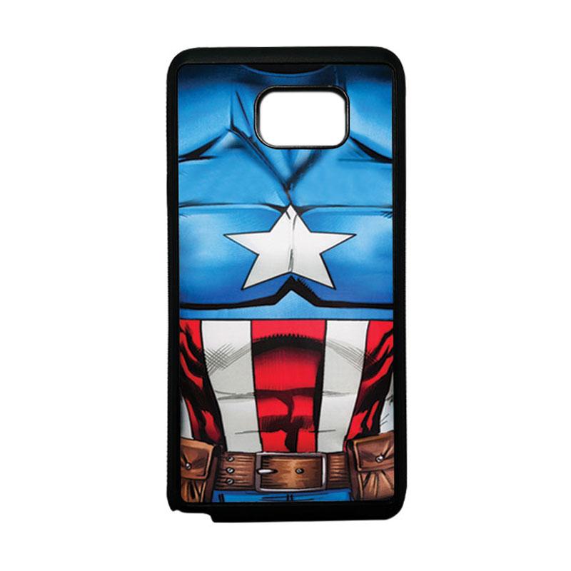 HEAVENCASE Superhero Captain America 08 Softcase TPU Bumper Casing for Samsung Galaxy Note 5 - Hitam