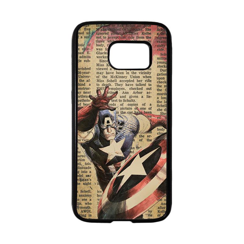 HEAVENCASE Superhero Captain America 09 Casing for Samsung Galaxy S7 - Hitam
