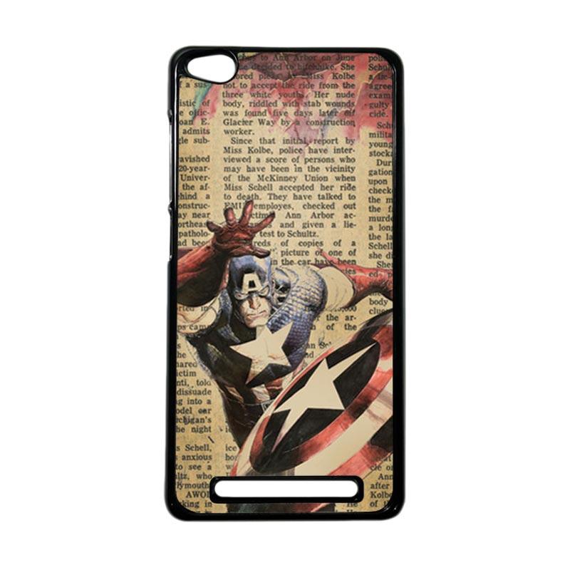 HEAVENCASE Superhero Captain America 09 Hardcase Casing for Xiaomi Redmi 3 - Hitam