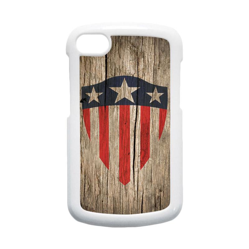 HEAVENCASE Superhero Captain America 10 Putih Hardcase Casing for Blackberry Q10