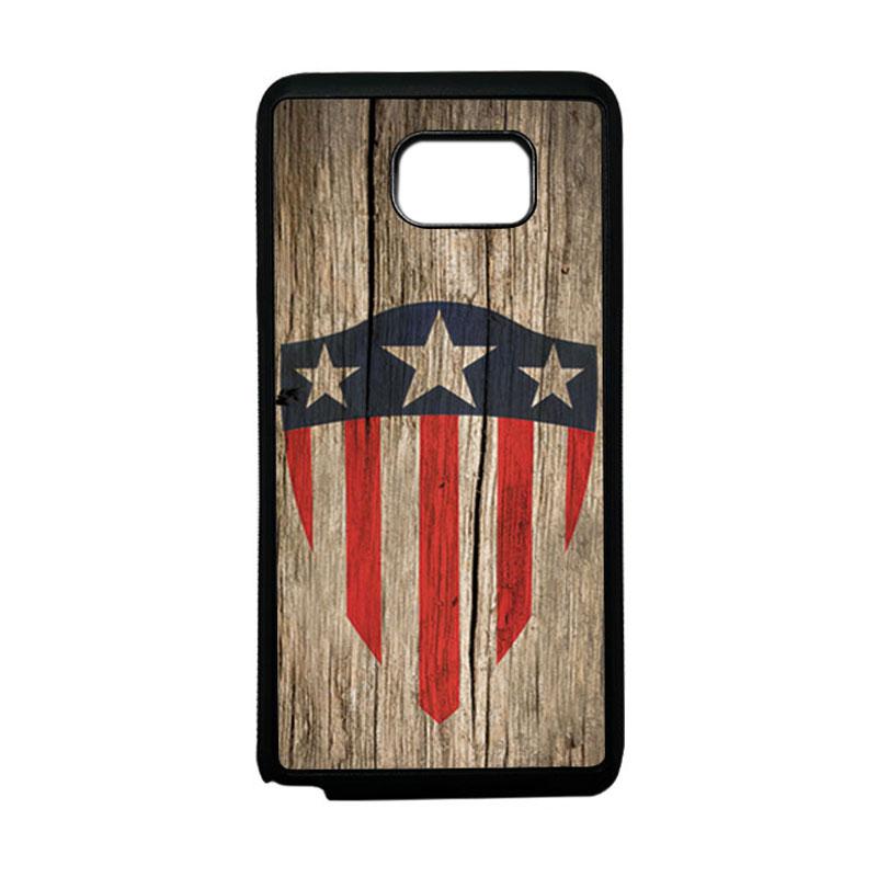 HEAVENCASE Superhero Captain America 10 Softcase TPU Bumper Casing for Samsung Galaxy Note 5 - Hitam