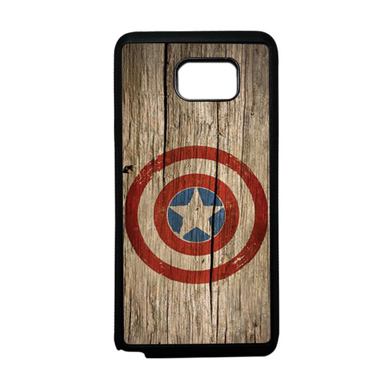 HEAVENCASE Superhero Captain America 11 Softcase TPU Bumper Casing for Samsung Galaxy Note 5 - Hitam