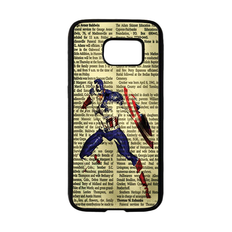 HEAVENCASE Superhero Captain America 12 Casing for Samsung Galaxy S7 - Hitam