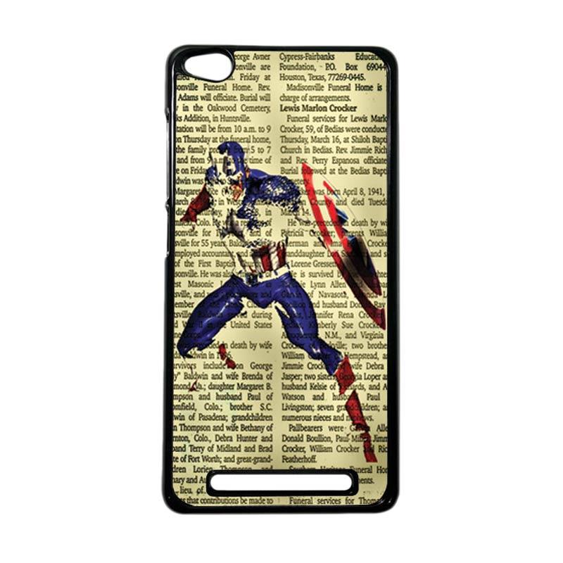 HEAVENCASE Superhero Captain America 12 Hardcase Casing for Xiaomi Redmi 3 - Hitam