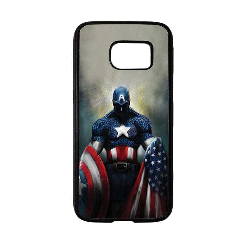 HEAVENCASE Superhero Captain America 13 Casing for Samsung Galaxy S7 - Hitam