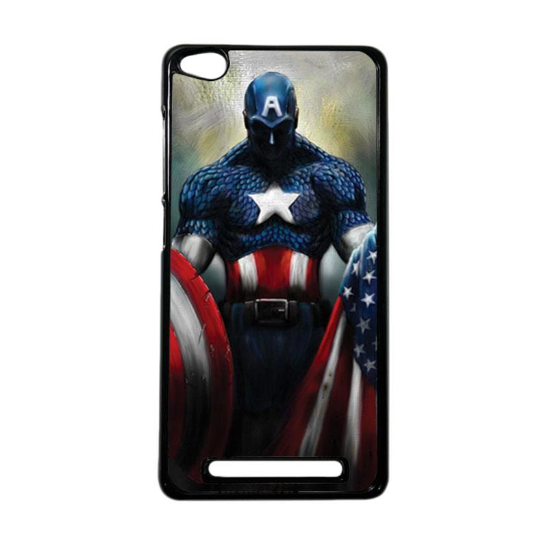 HEAVENCASE Superhero Captain America 13 Hardcase Casing for Xiaomi Redmi 3 - Hitam