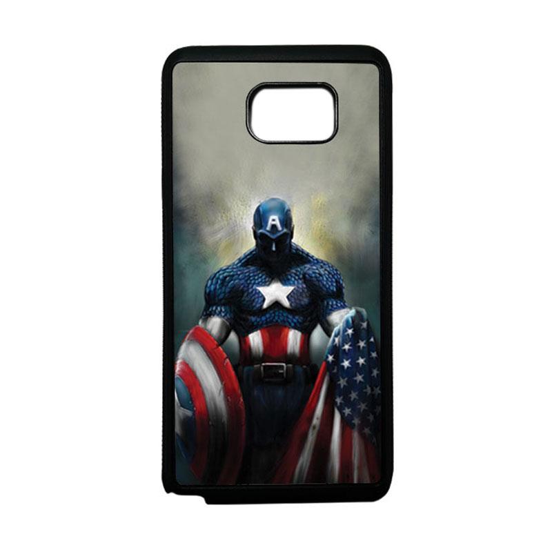HEAVENCASE Superhero Captain America 13 Softcase TPU Bumper Casing for Samsung Galaxy Note 5 - Hitam