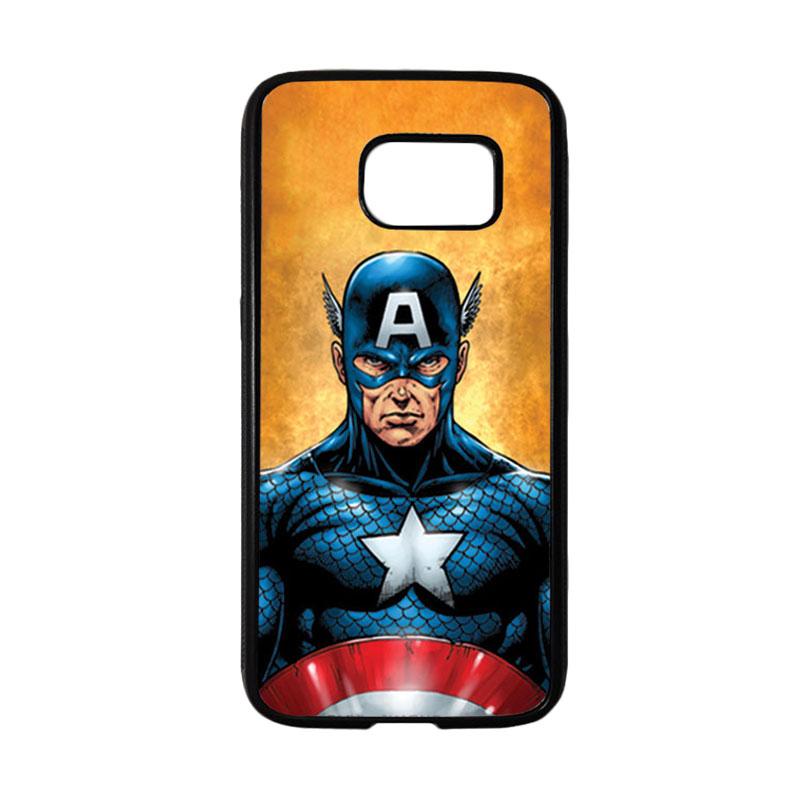 HEAVENCASE Superhero Captain America 14 Casing for Samsung Galaxy S7 - Hitam