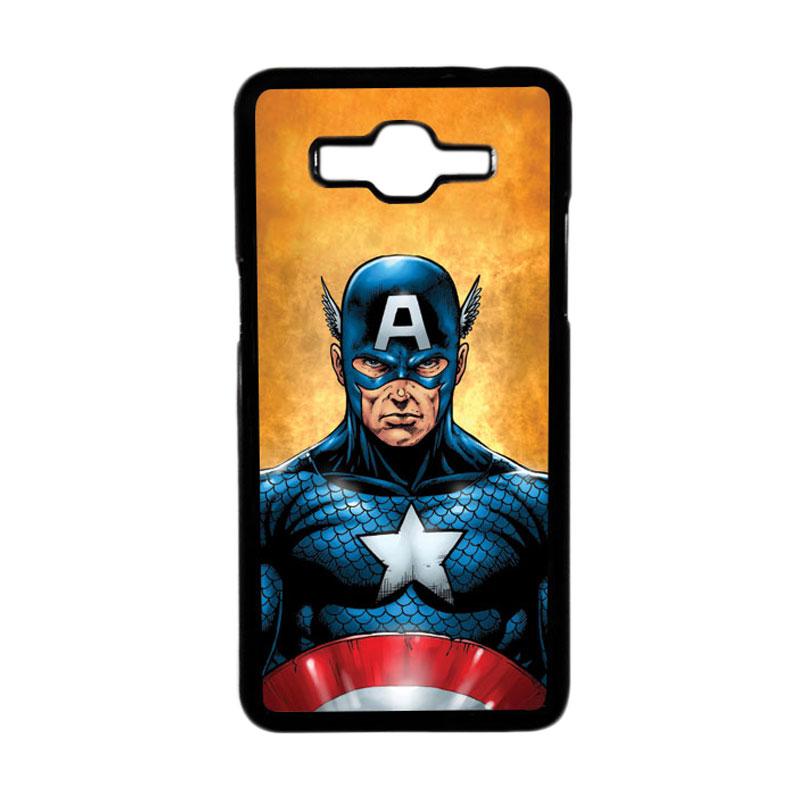 HEAVENCASE Superhero Captain America 14 Hardcase Casing for Samsung Galaxy Grand Prime - Hitam