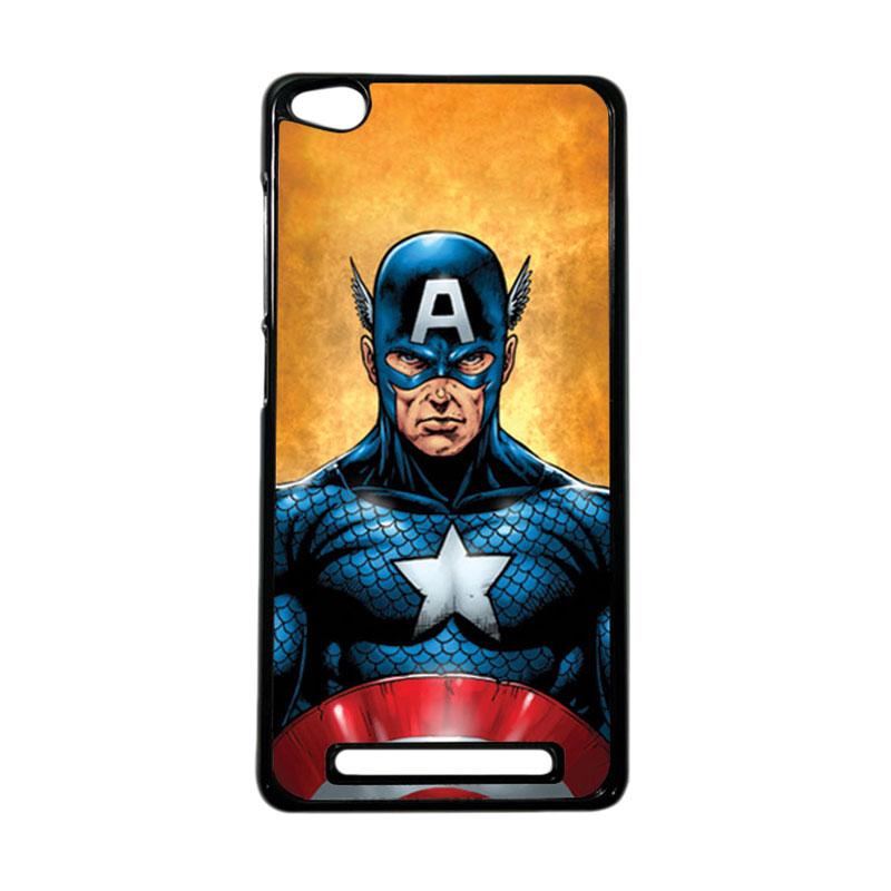 HEAVENCASE Superhero Captain America 14 Hardcase Casing for Xiaomi Redmi 3 - Hitam