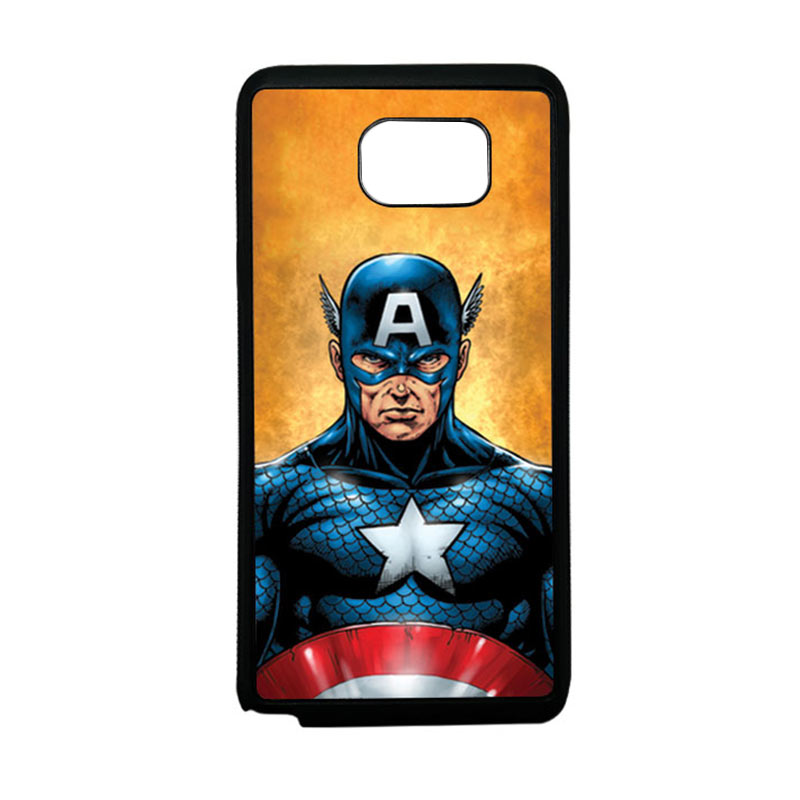 HEAVENCASE Superhero Captain America 14 Softcase TPU Bumper Casing for Samsung Galaxy Note 5 - Hitam