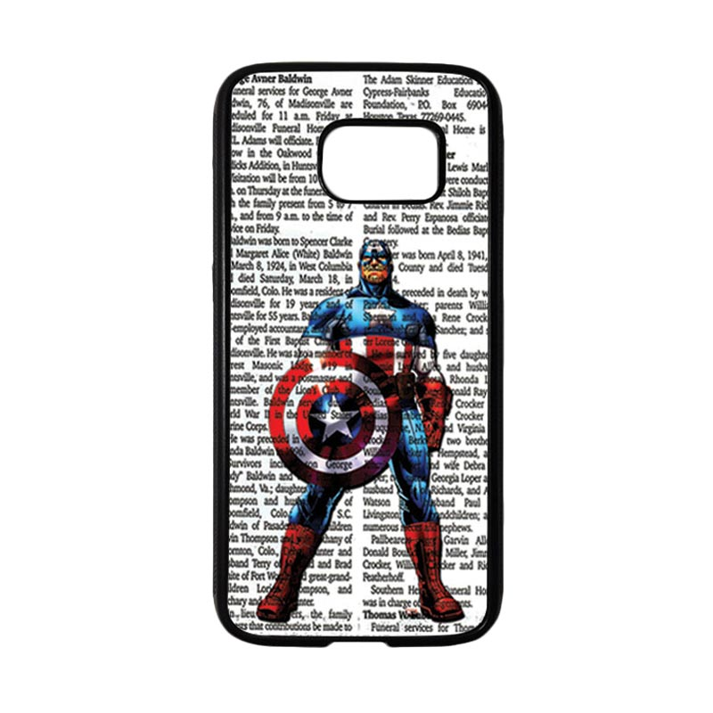 HEAVENCASE Superhero Captain America 15 Casing for Samsung Galaxy S7 - Hitam