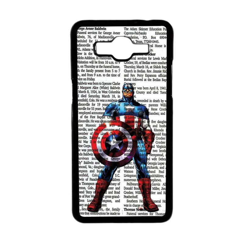 HEAVENCASE Superhero Captain America 15 Hardcase Casing for Samsung Galaxy Grand Prime - Hitam