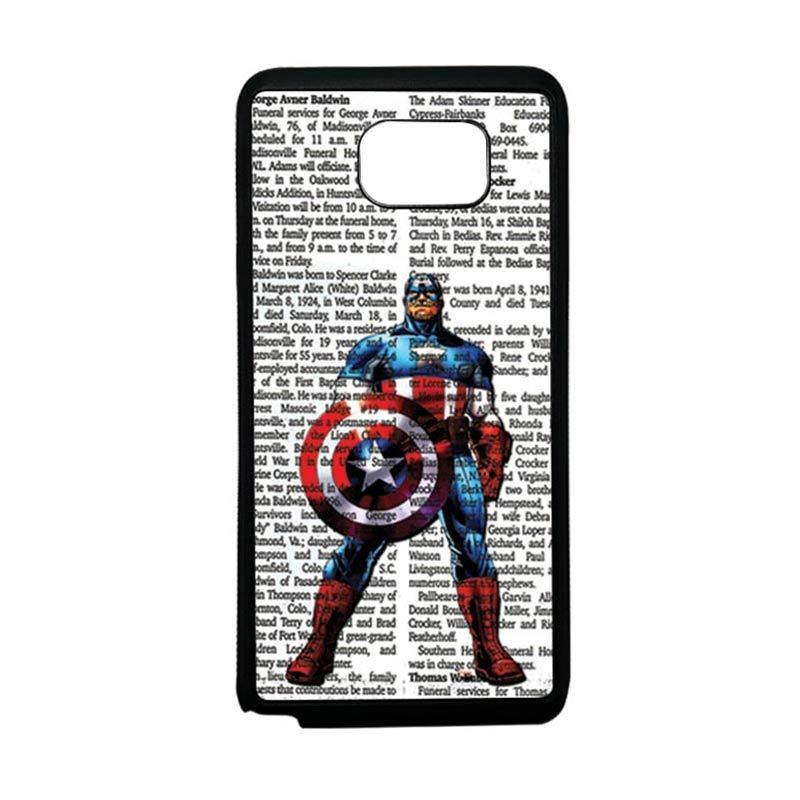 HEAVENCASE Superhero Captain America 15 Softcase TPU Bumper Casing for Samsung Galaxy Note 5 - Hitam