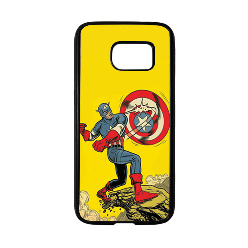 HEAVENCASE Superhero Captain America 16 Casing for Samsung Galaxy S7 - Hitam