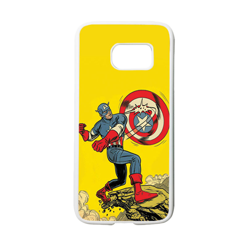 HEAVENCASE Superhero Captain America 16 Casing for Samsung Galaxy S7 - Putih