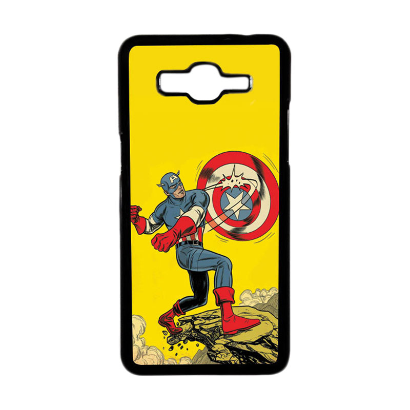 HEAVENCASE Superhero Captain America 16 Hardcase Casing for Samsung Galaxy Grand Prime - Hitam