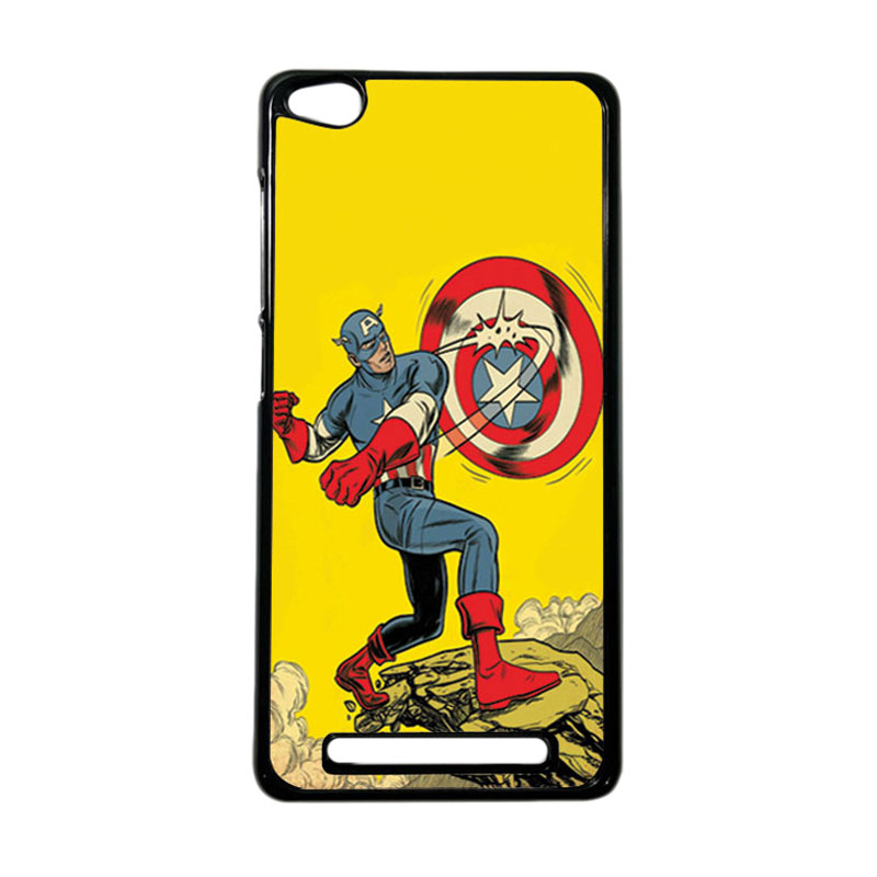 HEAVENCASE Superhero Captain America 16 Hardcase Casing for Xiaomi Redmi 3 - Hitam