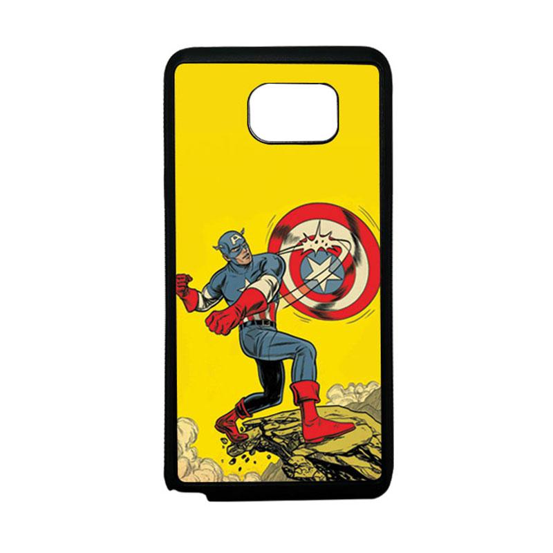 HEAVENCASE Superhero Captain America 16 Softcase TPU Bumper Casing for Samsung Galaxy Note 5 - Hitam