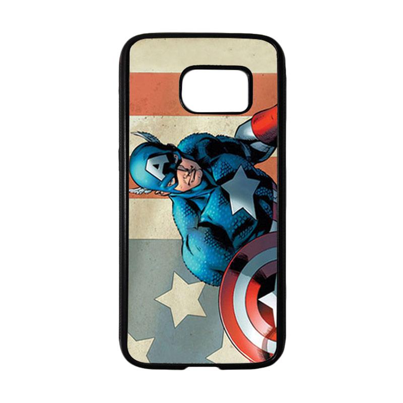 HEAVENCASE Superhero Captain America 18 Casing for Samsung Galaxy S7 - Hitam