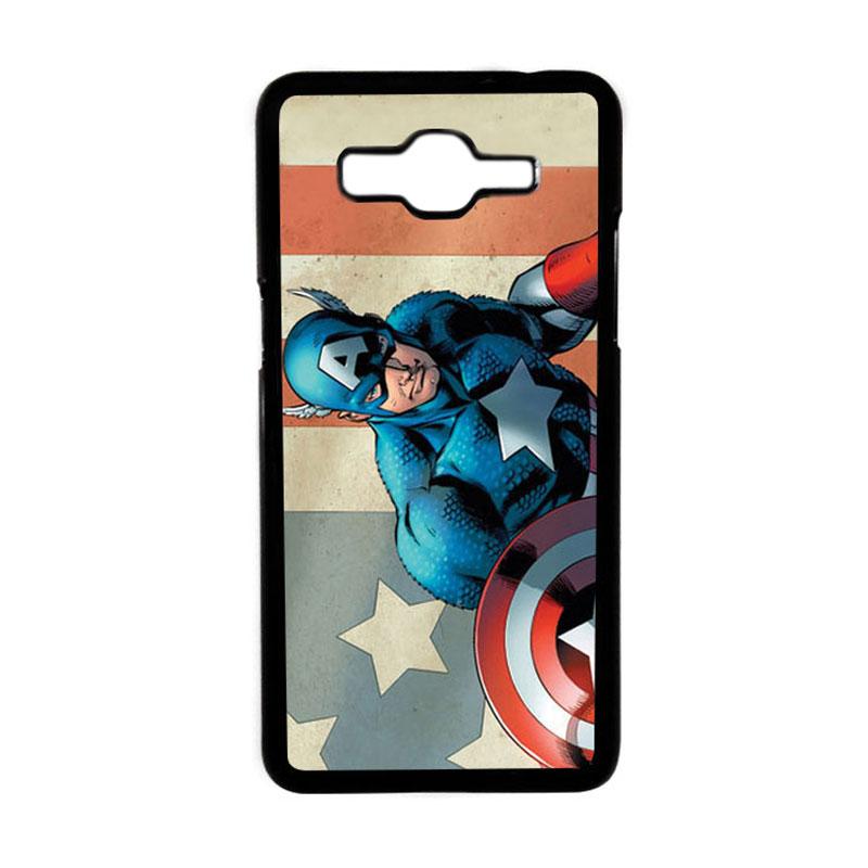 HEAVENCASE Superhero Captain America 18 Hardcase Casing for Samsung Galaxy Grand Prime - Hitam