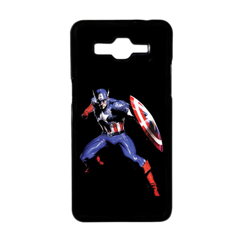 HEAVENCASE Superhero Captain America 19 Hardcase Casing for Samsung Galaxy Grand Prime - Hitam