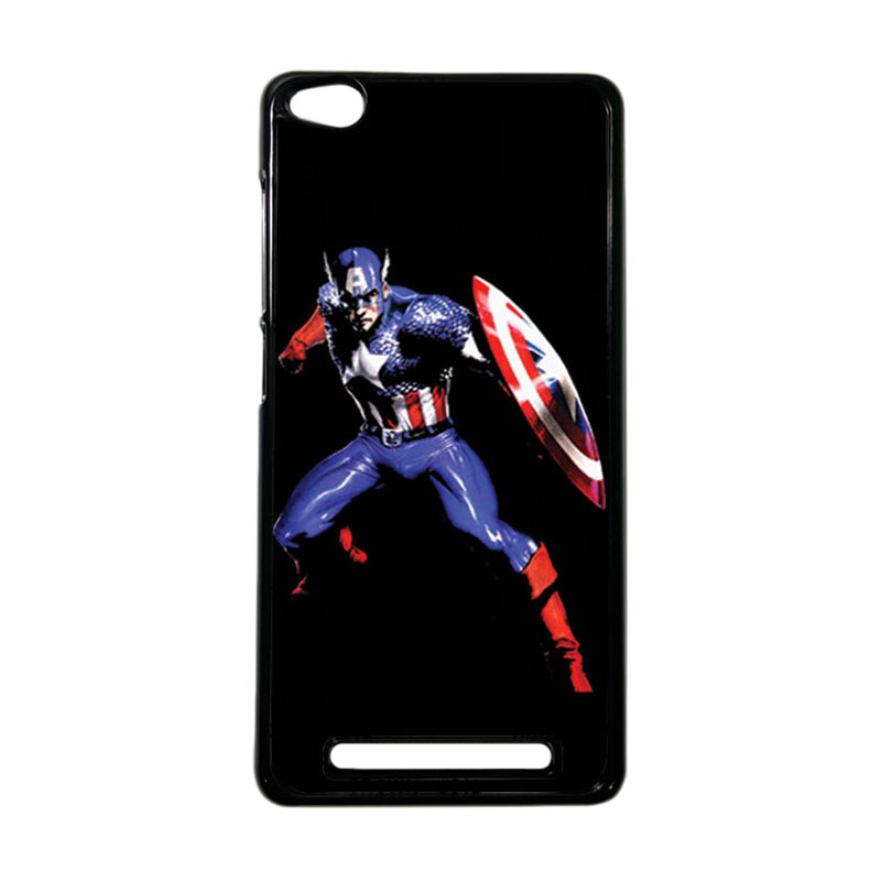 HEAVENCASE Superhero Captain America 19 Hardcase Casing for Xiaomi Redmi 3 - Hitam