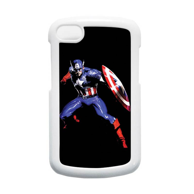 HEAVENCASE Superhero Captain America 19 Putih Hardcase Casing for Blackberry Q10