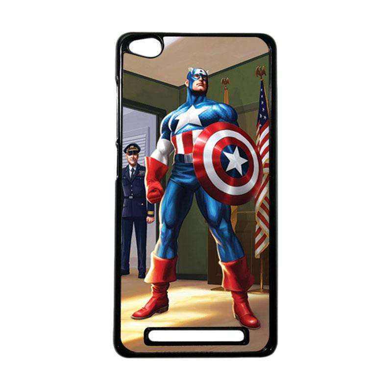 HEAVENCASE Superhero Captain America 20 Hardcase Casing for Xiaomi Redmi 3 - Hitam