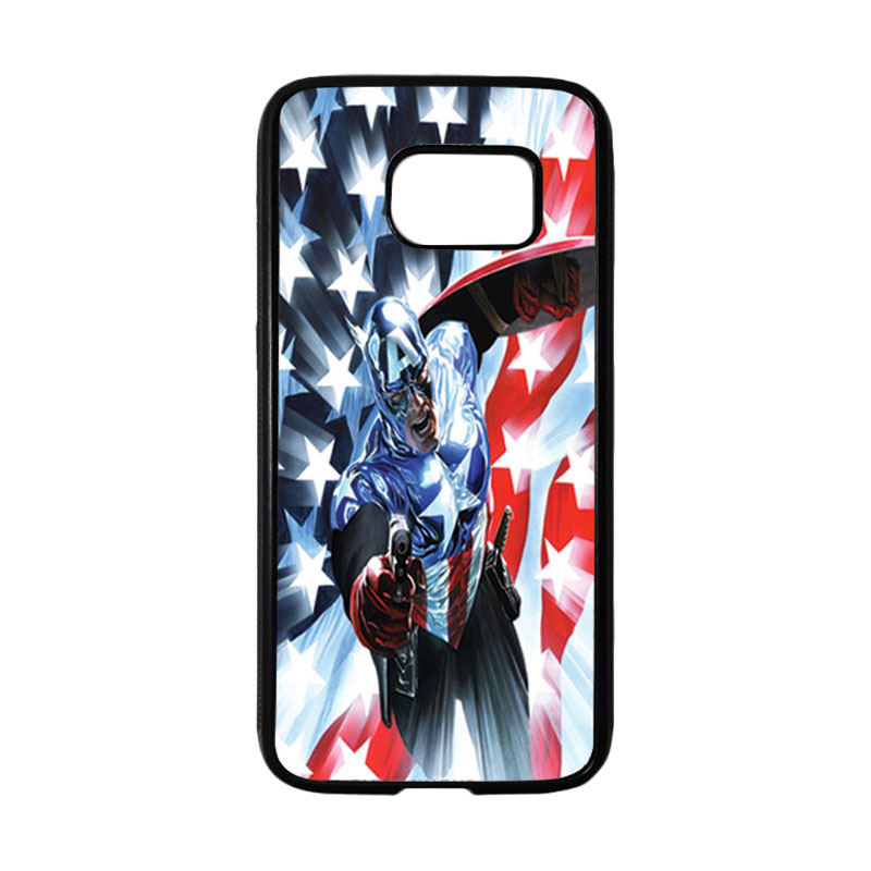 HEAVENCASE Superhero Captain America 21 Casing for Samsung Galaxy S7 - Hitam