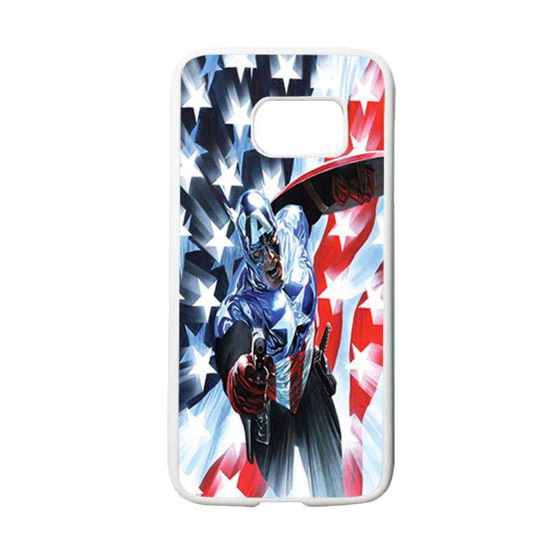 HEAVENCASE Superhero Captain America 21 Casing for Samsung Galaxy S7 - Putih