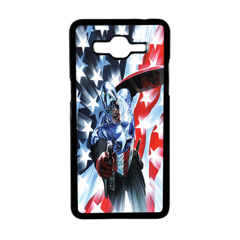 HEAVENCASE Superhero Captain America 21 Hardcase Casing for Samsung Galaxy Grand Prime - Hitam