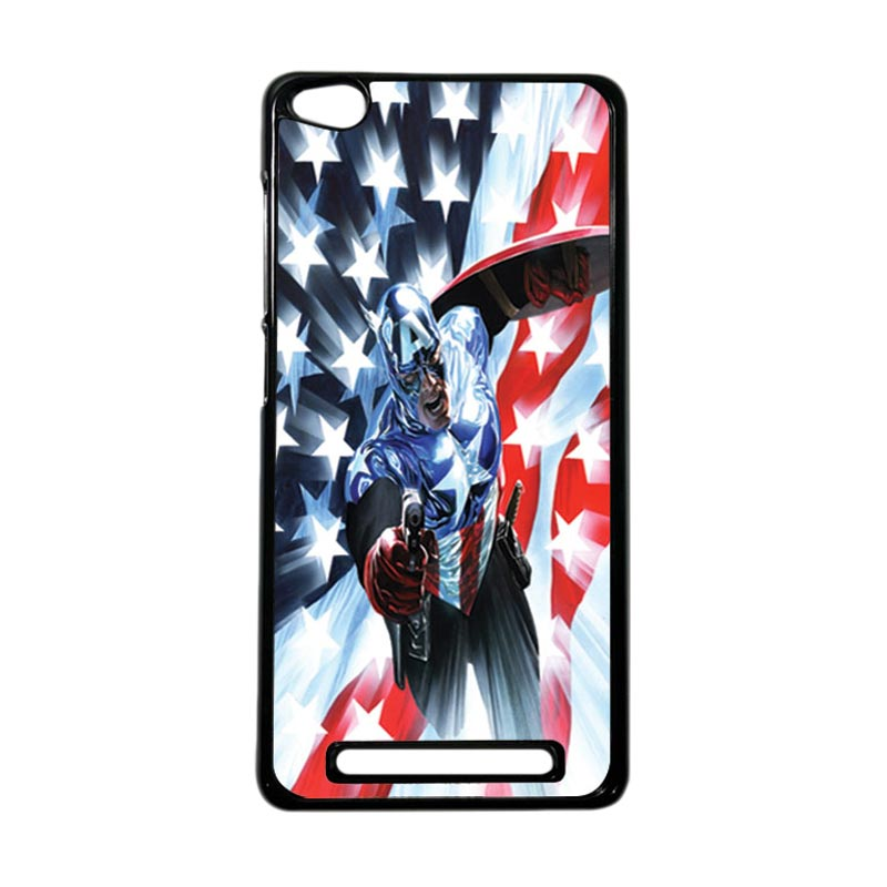 HEAVENCASE Superhero Captain America 21 Hardcase Casing for Xiaomi Redmi 3 - Hitam