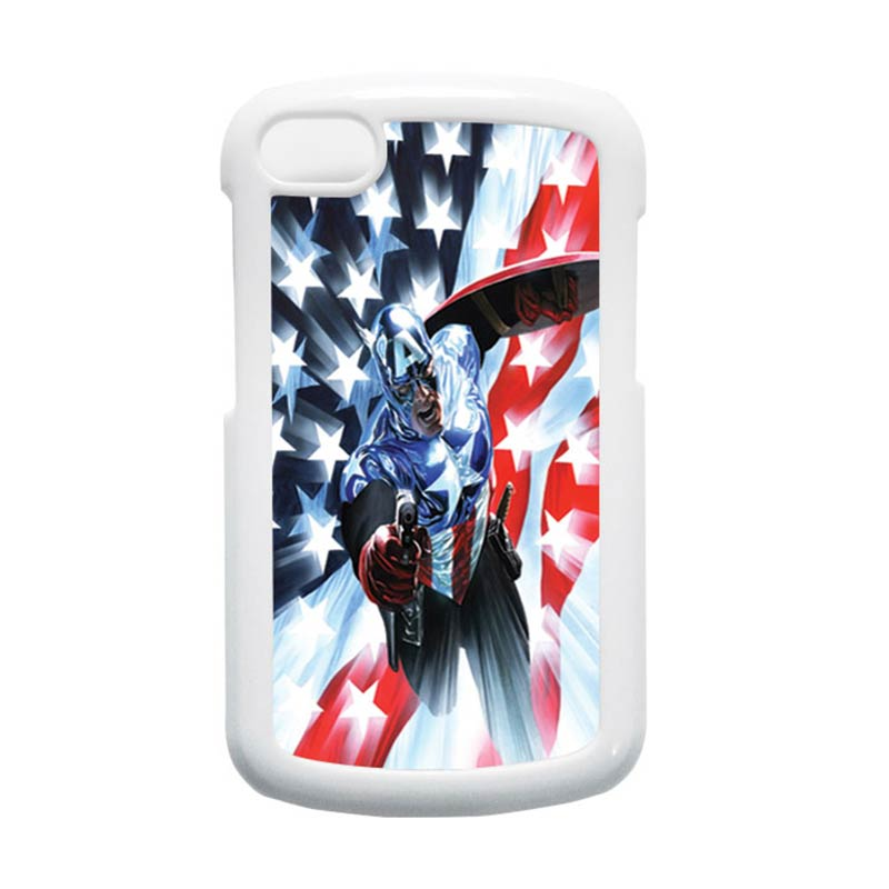 HEAVENCASE Superhero Captain America 21 Putih Hardcase Casing for Blackberry Q10
