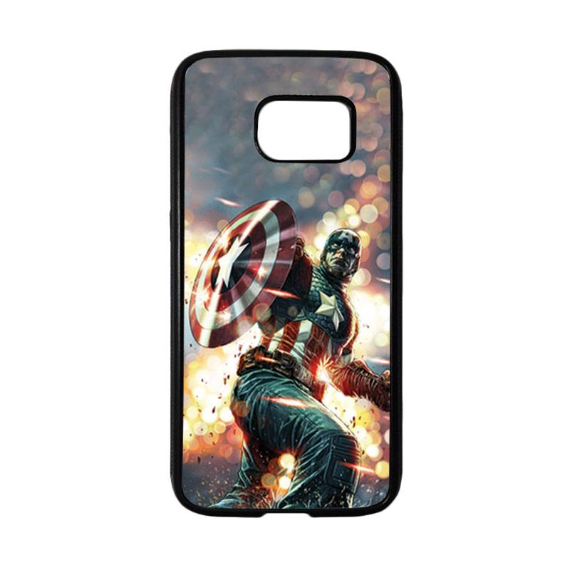 HEAVENCASE Superhero Captain America 22 Casing for Samsung Galaxy S7 - Hitam
