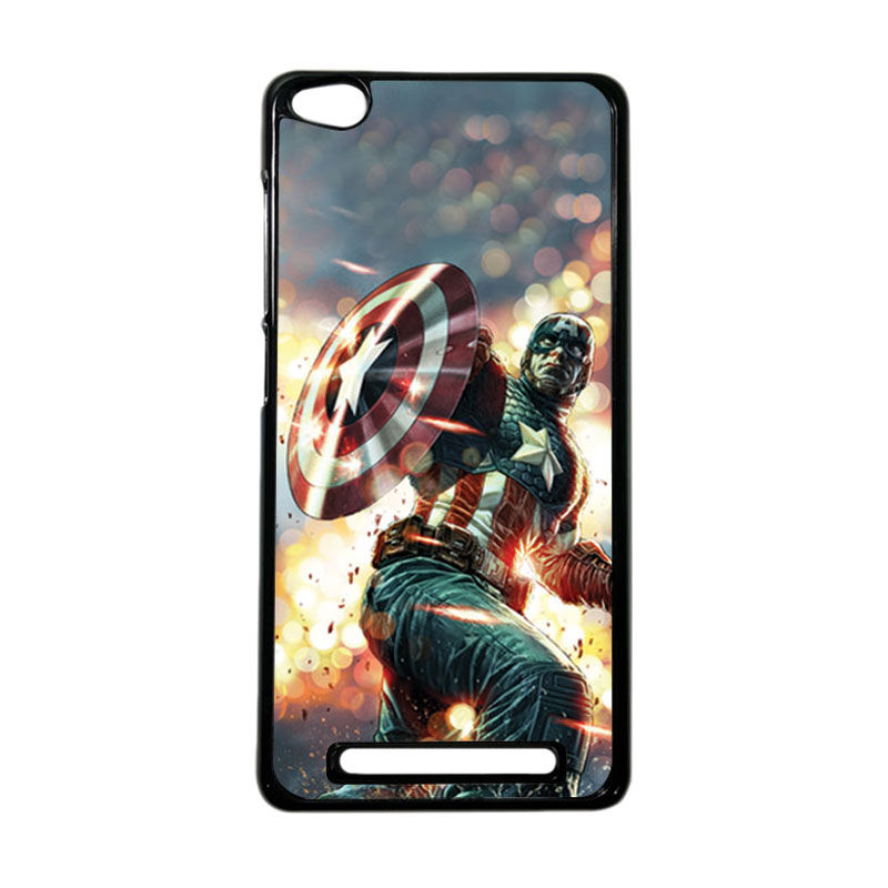 HEAVENCASE Superhero Captain America 22 Hardcase Casing for Xiaomi Redmi 3 - Hitam