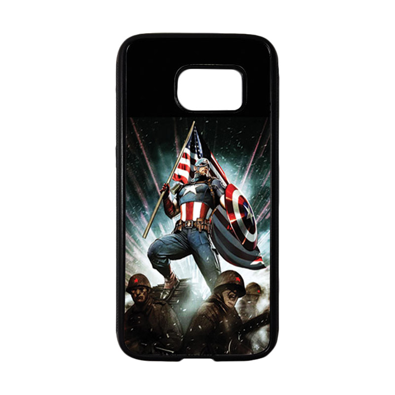 HEAVENCASE Superhero Captain America 23 Casing for Samsung Galaxy S7 - Hitam