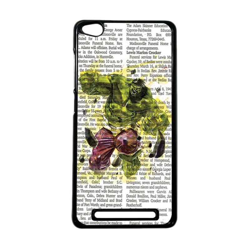 Heavencase Superhero Hulk 04 Hardcase Casing for Xiaomi Redmi 3 - Hitam